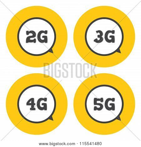 Mobile Telecommunications Icons.