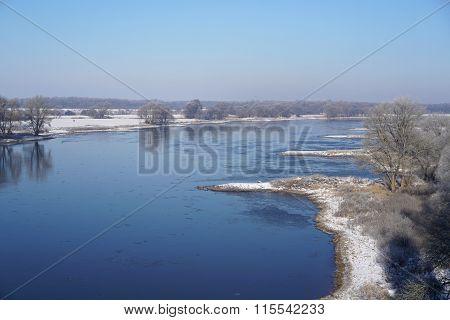 Elbe River near Magdeburg