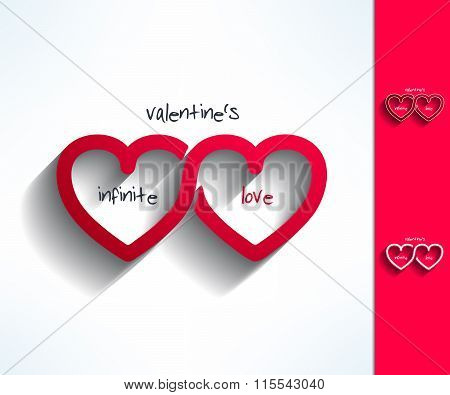 Set of vector valentines infinite love signs made in modern flat design. Loving couple concept. Love