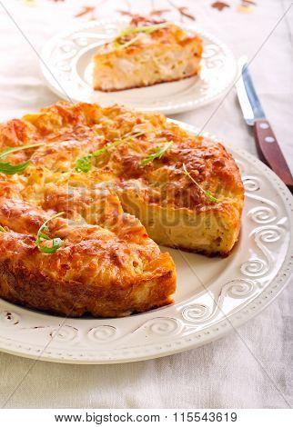 Chicken Fillet, Cauliflower And Cheese Quiche