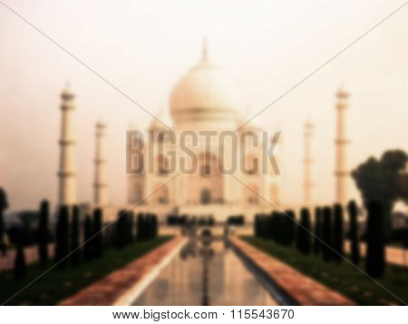 Taj Mahal blurred