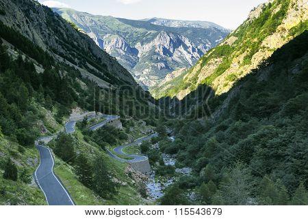 Colle Della Lombarda, Road In The Alps