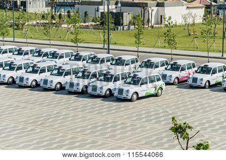 BAKU - MAY 10, 2015: London Cabs on May 10 in BAKU, Azerbaijan.