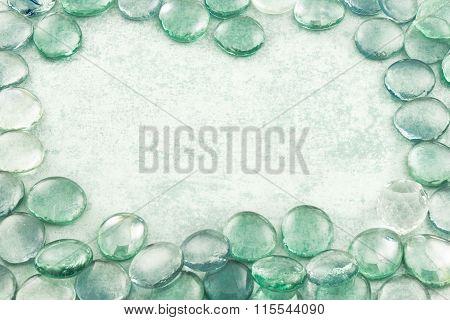 Glass Drops Aqua Background