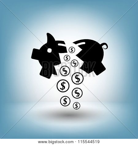 Pictograph of moneybox