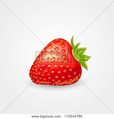 One ripe strawberry