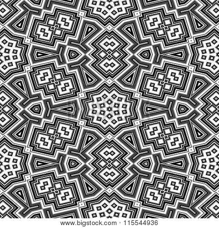 Black And White Geometric Floor Seamless Pattern Texture