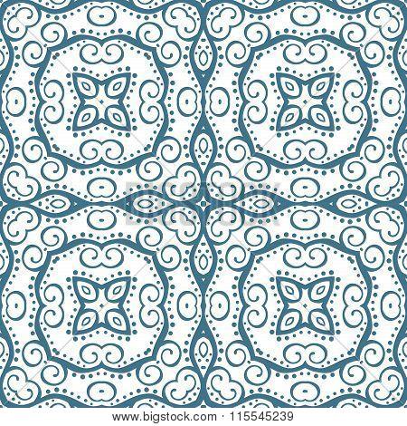Fantasy blue seamless pattern