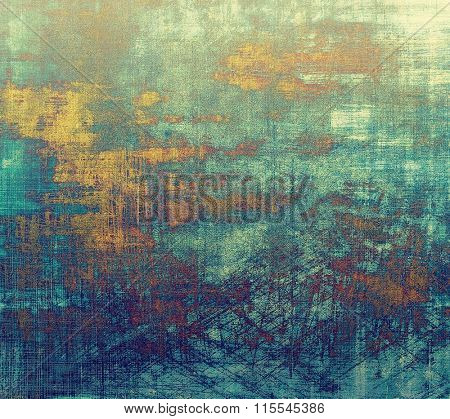 Grunge background or texture for your design. With different color patterns: yellow (beige); brown; blue; cyan; green