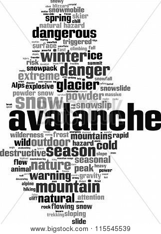 Avalanche Word Cloud