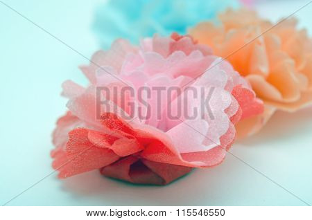 Flowers Made From Paper Craftwork