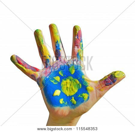 Painted Kid Hand