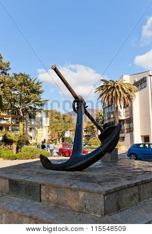 Metal Anchor Monument In Tivat, Montenegro