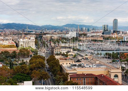 Barcelona,  View On The Drassanes