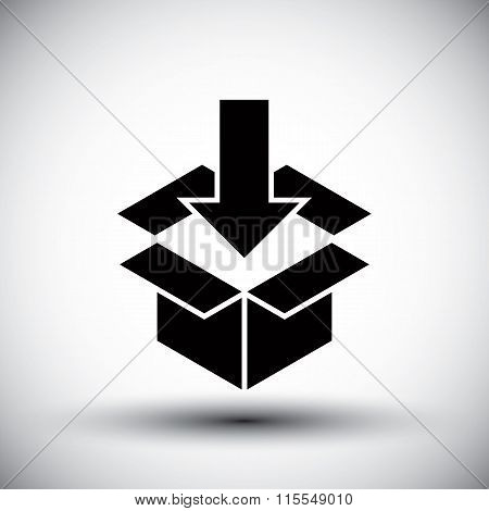 Gift Box Conceptual Simple Single Color New Idea Vector Symbol.