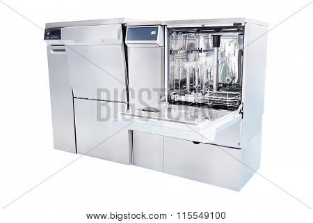 Equipment of a chemical laboratory. Washing and disinfection machine