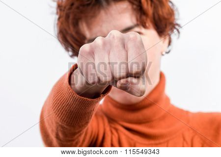 Hand Clenched Into A Fist