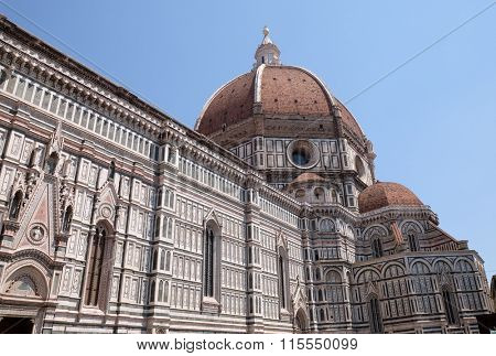 FLORENCE, ITALY - JUNE 05: Cattedrale di Santa Maria del Fiore (Cathedral of Saint Mary of the Flower) in Florence, Italy on June 05, 2015