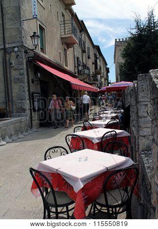 Street in San Marino, Italy