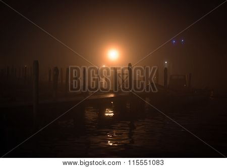 Wooden Pier In The Night