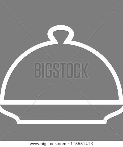 Cloche Poster. Silhouette Line Cover For Hot Meals.