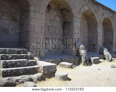 Ruins of Asclepion bath in Greece