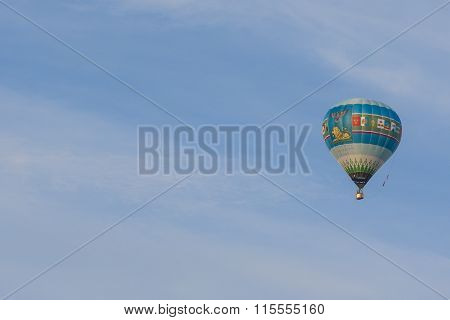 Russian Air-Balloon Team During Their Hit in International Aerostatics Cup Called 70 Years of Peacef