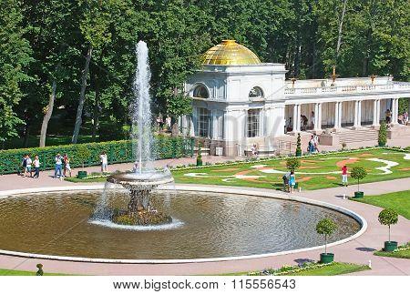 Peterhof. Russia. The Bowl Fountain