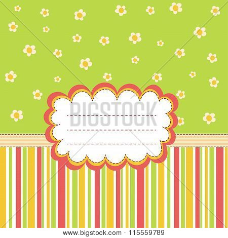 Greeting card template with a place for your text