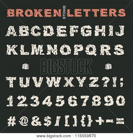 broken stones alphabet