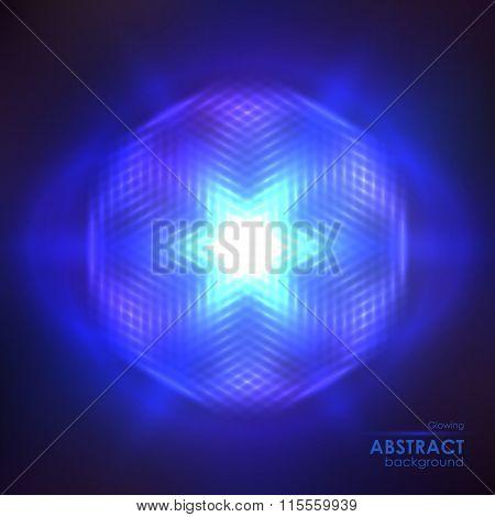 Cosmic Shining Blue Background
