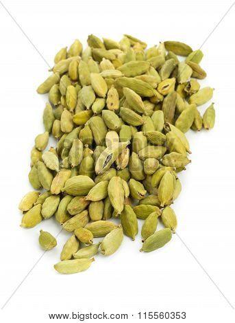 Cardamom Seed Pods Heap