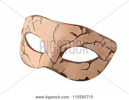 Leather Carnival half mask at Steampunk style