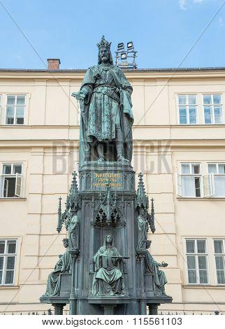 Karol IV Statue In Prague