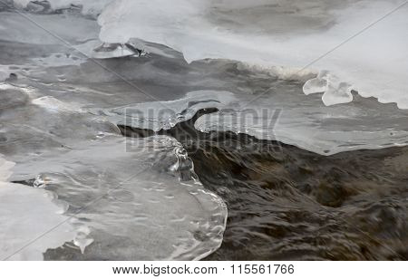 Winter Mountain Stream
