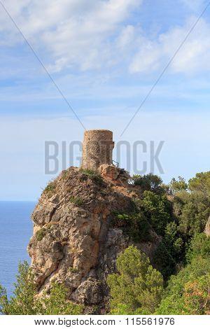 Tower of souls at coast in Majorca, Spain