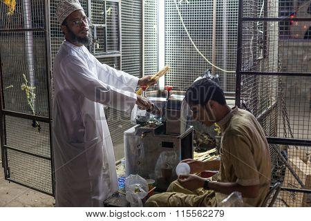 Bamboo Juice Stand In Nizwa, Oman