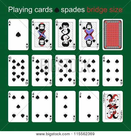 Playing Cards. Spades. Bridge Size