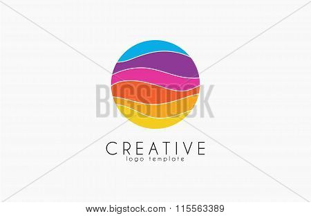Creative logo. Colorful logo. geometric icon.