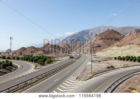Highway In Oman, Middle East