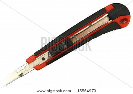 Paper Knife Isolated On The White Background