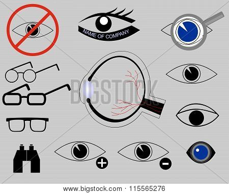 icons on the topic of eyes