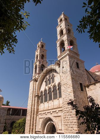 Modern Greek Orthodox Convent In At Nablus In The West Bank, Israel,  Which Lies A Well Of Jacob