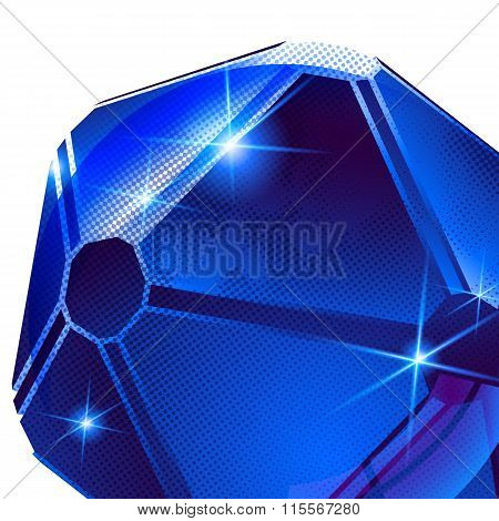 Textured Background With Plastic Spherical Flash Object With, Dimensional Backdrop