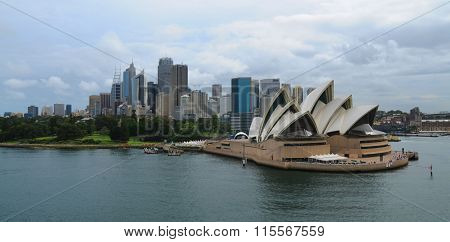 Sydney Opera House with city skyline