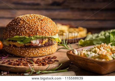 Beef Burger In Bun