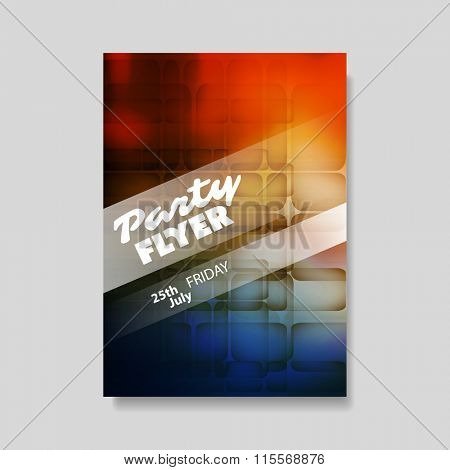 Party Flyer Concept With Abstract Background - Flyer or Cover Design