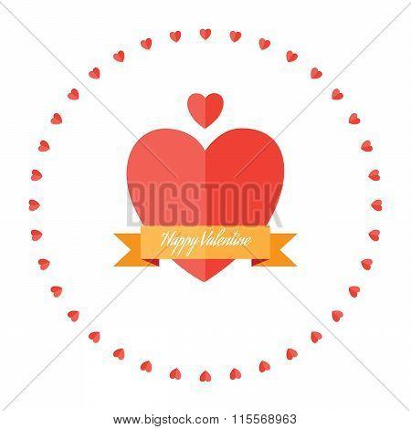 Happy Valentine Hearts