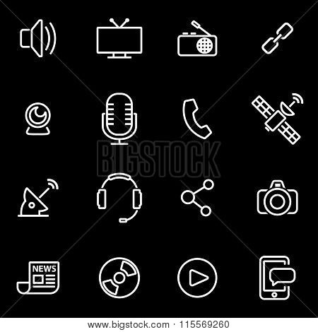 Vector Line Media Icon Set