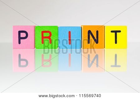 Print - An Inscription From Children's Blocks